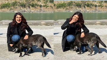 Jennifer Winget AKA Maya Finds Her Dog Next To The Holy Ganga- Pics & Video Inside