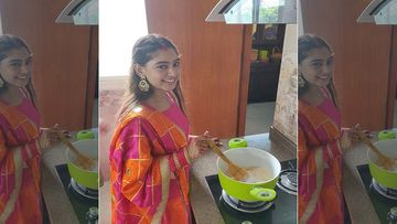Post Wedding, Niti Taylor Gives A Glimpse Of 'Pehli Rasoi' As She Prepares Atta Halwa For The First Time In Her Sasural