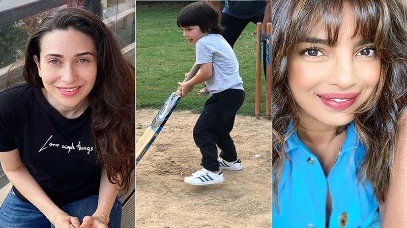 Karisma Kapoor, Priyanka Chopra And More Can't Stop Gushing Over Kareena Kapoor Khan's Post Of Taimur Ali Khan Playing Cricket