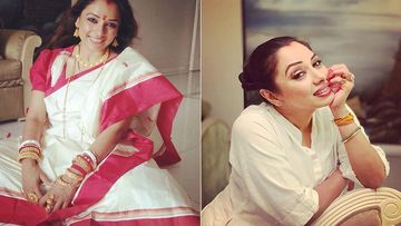 Anupamaa Actress Rupali Ganguly Dresses In A Traditional Bengali Saree; Urges Us To Count Our Blessings And Forget Stress