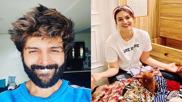 Kartik Aaryan Trolls His Luka Chuppi Co-Star Kriti Sanon For Her Dress, Here's What She Has To Say
