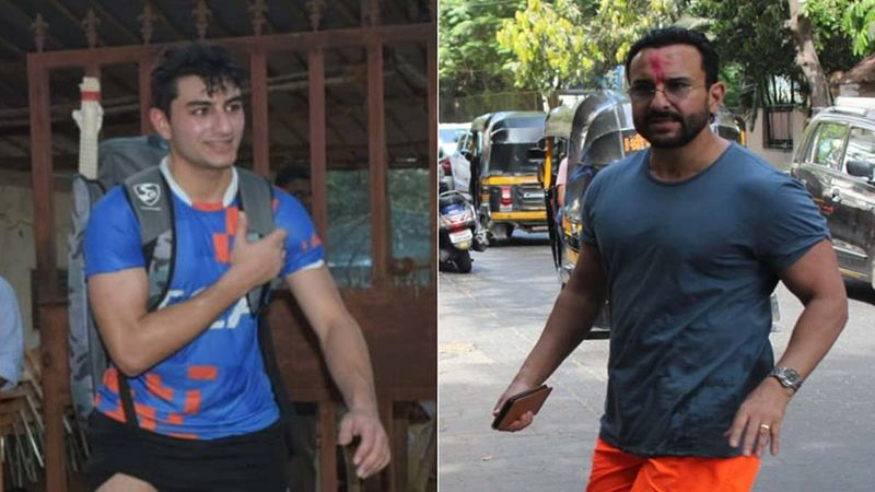 INSIDE Ibrahim Ali Khan's Birthday Bash: Star Kid Smiles For A Pic With Daddy Saif Ali Khan; The Father-Son Duo Pose Against The Background 'Be Naked When I Get Home'