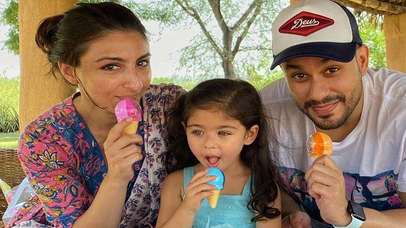 Soha Ali Khan Drops An Adorable Video Of Hubby Kunal Kemmu And Daughter Inaaya Naumi Kemmu's Art Session, Captions It, 'Kick Art Your Day'- WATCH