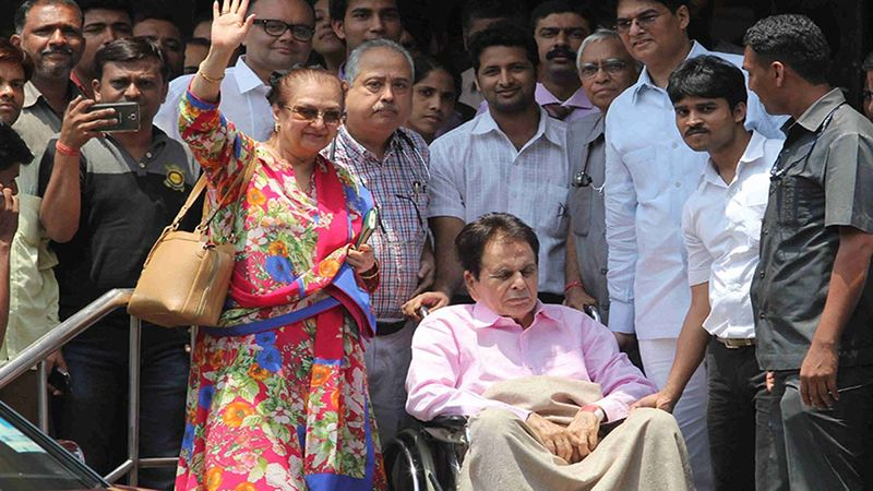 Saira Banu Clicked Outside Hospital As She Visits Her Husband Dilip Kumar, Assures 'Saab Theek Hain'