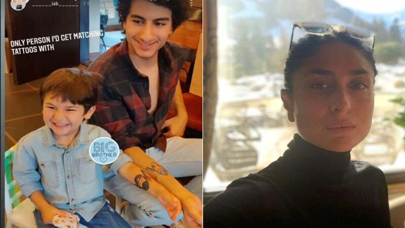 Inaaya Naumi Kemmu's Birthday Bash: Taimur Ali Khan And Ibrahim Ali Khan Flaunt Their Matching Tattoo, Kareena Shares Picture With Big Blue Heart On INSTA Stories