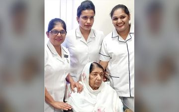 FIRST PICTURE Of  Legendary Singer Lata Mangeshkar Post 28 Days Of Hospitalisation