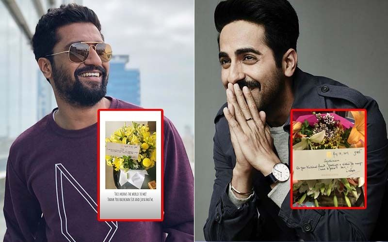 National Film Awards Winners, Ayushmann Khurrana & Vicky Kaushal Get A Sweet Surprise From Amitabh Bachchan And Jaya Bachchan