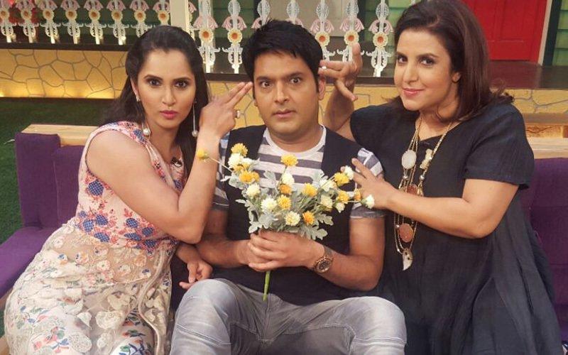 Farah Khan, Sania Mirza shoot with Kapil Sharma