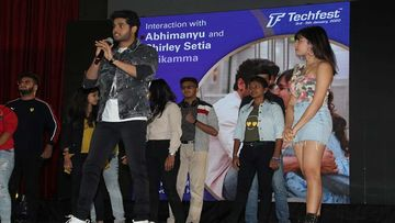 Abhimanyu Dassani And Shirley Setia Have A Blast During The Promotions Of Nikamma At A College Fest