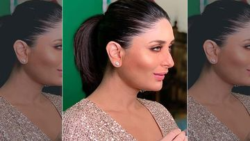 Pregnant Kareena Kapoor Khan Shoots For A Commercial In A Stunning Champagne Rose Gold Shimmering Number