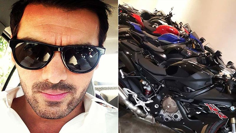 John Abraham Drops A Picture Of His Massive Bike Collection; Calls It 'Candy Shop'