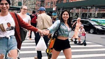 Janhvi Kapoor Declares She Is The Coolest Sibling With This Pic But What We Noticed Is A FRIENDS Door In The Background
