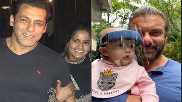 Salman Khan's Sister Arpita Khan Sharma Shares A Pic Of Mamu Sohail With Niece Ayat Who Is Wearing A Transparent Face Shield