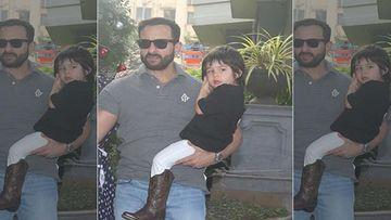 Paps Go Clickety-Click As They Spot Saif Ali Khan And Taimur Ali Khan; Leaves Tandav Star Upset - WATCH