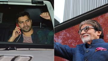 Varun Dhawan Bumps Into Amitabh Bachchan On The Sets Of Mayday, Spends Time In His Vanity Van