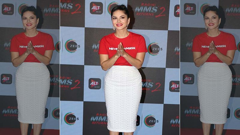 Sunny Leone Posts A Video Of Her Team Struggling To Zip Up Her Gown; Says 'Takes An Army To Make A Gown Look Perfect'- VIDEO