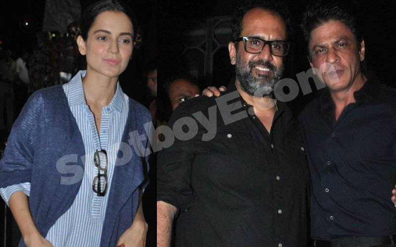 SRK-Kangana Spotted at Anand L Rai Birthday Bash!