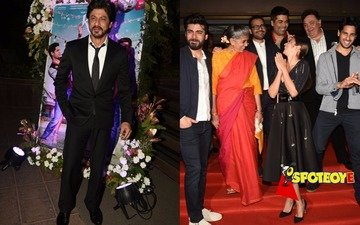 SRK joins Kapoor & Sons family at the film's success party