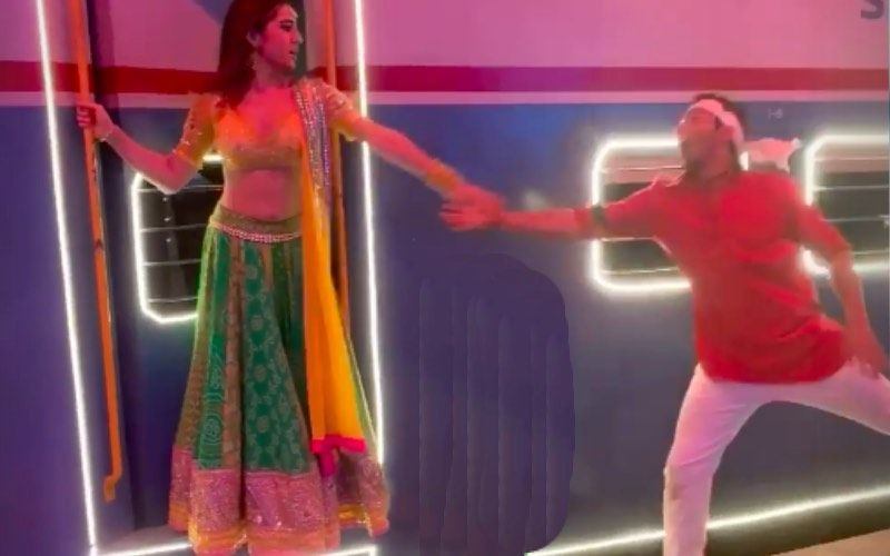 Coolie No 1 Song Teri Bhabhi: Sara Ali Khan And Varun Dhawan Pull Off DDLJ's Iconic Moment In The BTS Video