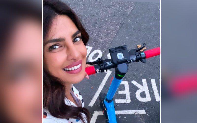 Priyanka Chopra Clicks A Cheerful Selfie As She Explores London On An Electric Bike; Chimes 'Let's Go Explore'- See Pic