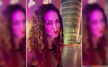 Sunny Leone Snapped Wearing A Transparent Face Mask But Netizens Can't Get Over It As They Say 'Its Pointless'