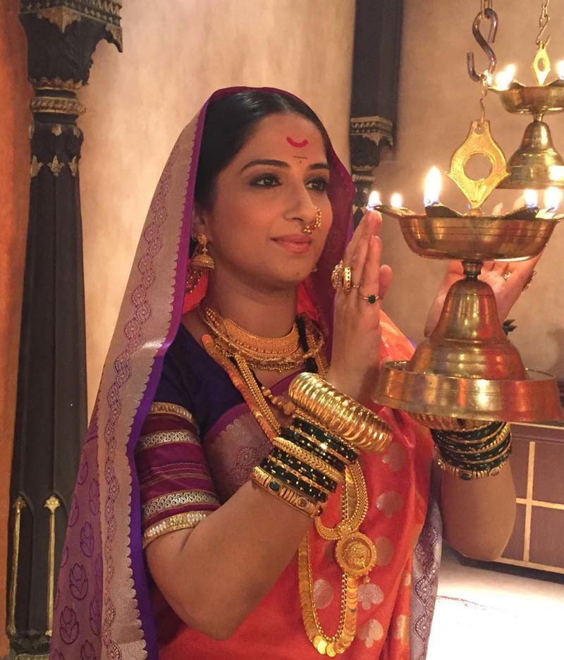 A Still Of Poorva Gokhle From A TV Show