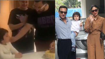 A Viral Video Of Excited Taimur Ali Khan Singing Happy Birthday Song With Kareena Kapoor Khan And Saif Ali Khan In Dharamshala Is Just Too Cute - WATCH