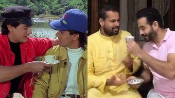 Irfan Pathan-Yusuf Pathan Recreate The EPIC Chai Scene From Salman Khan-Aamir Khan's Andaz Apna Apna; Fans Hail, 'Super Pathan Bros'