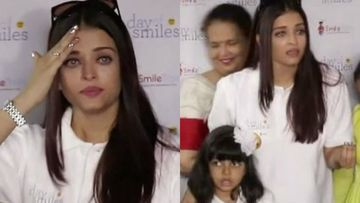 When Aishwarya Rai Bachchan Was In Tears In Front Of Shutterbugs As They Continuously Screamed Inside A Children's Hospital - VIDEO