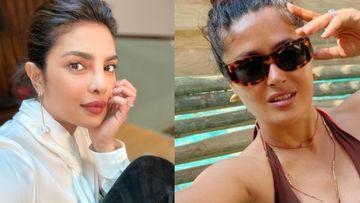 Priyanka Chopra's Current Mood Is Salma Hayek's Dog Shake Off And A Plunging Neckline