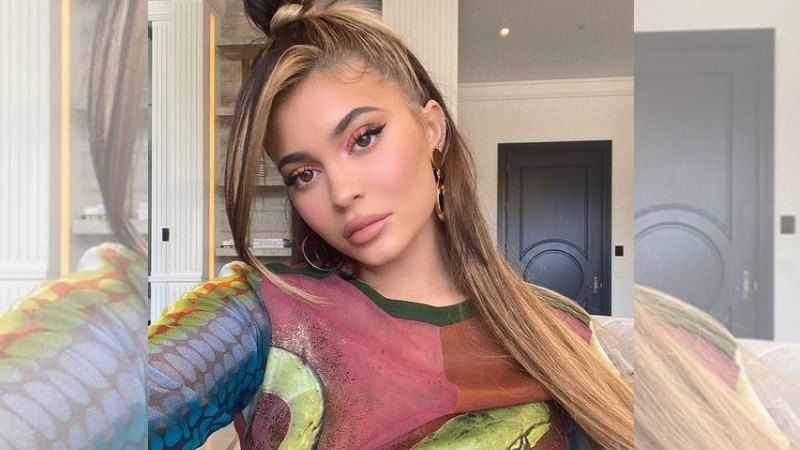 Kylie Jenner Shows Off Her Sexy Curves In Bandage Bikini Whilst Promoting Her Brand's Hair Towel; Oh-So-Hot