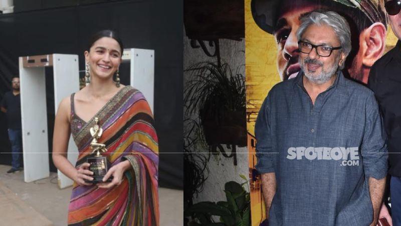 Alia Bhatt Pulls Off A Gangubai Kathiawadi Namaste As She Poses For The Paps With Sanjay Leela Bhansali On His Birthday