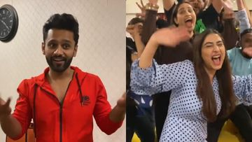 Bigg Boss 14's First Runner-Up Rahul Vaidya Joins The Pawri Trend; Makes A Cool Video Celebrating With Girlfriend Disha Parmar And His Family - WATCH