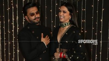 Deepika Padukone And Ranveer Singh Step Out For A Dinner Date; Go Colour-Coordinated In Black