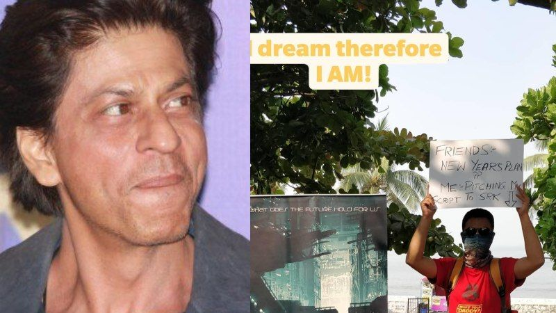 A Filmmaker Fan Of Shah Rukh Khan Camps Outside Mannat To Get Him To Sign His Film; Shares About It On Social Media