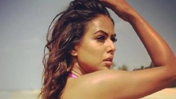 Nia Sharma Enjoys A Beach Volleyball Session Wearing The Sexiest Black Bikini - PICS INSIDE