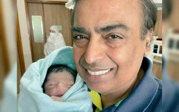 FIRST PICTURE Of Akash Ambani And Shloka's Baby Boy OUT; Dadu Mukesh Ambani Beams With Joy As He Holds The Munckin