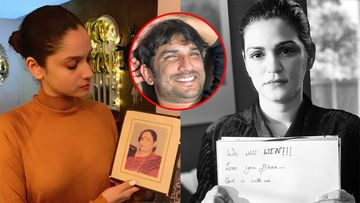 Sushant Singh Rajput Death: Ex-GF Ankita Lokhande, Sister Shweta Pray For Justice; Ankita Holds SSR's Mom's Pic And Says, 'Believe You Are Together'