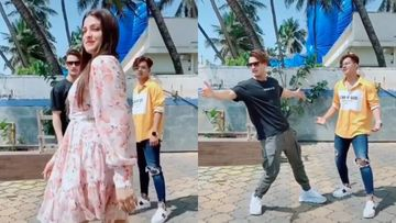 Aww, Asim Riaz Pulls Off The Signature SRK Pose Upon Seeing Ladylove Himanshi Khurana In His Tik Tok Video