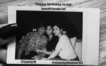 Shah Rukh Khan's Daughter Suhana Khan Makes A Two-One Birthday Wish For Dad And Bestie Shanaya Kapoor; Shares Cool Throwback Pic Posing With The Two