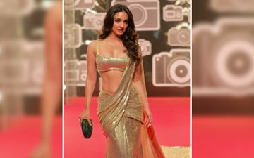 Kiara Advani Makes Jaws Drop In Heelein Toot Gayi; Sports The Blingiest Gold Saree Known To Mankind