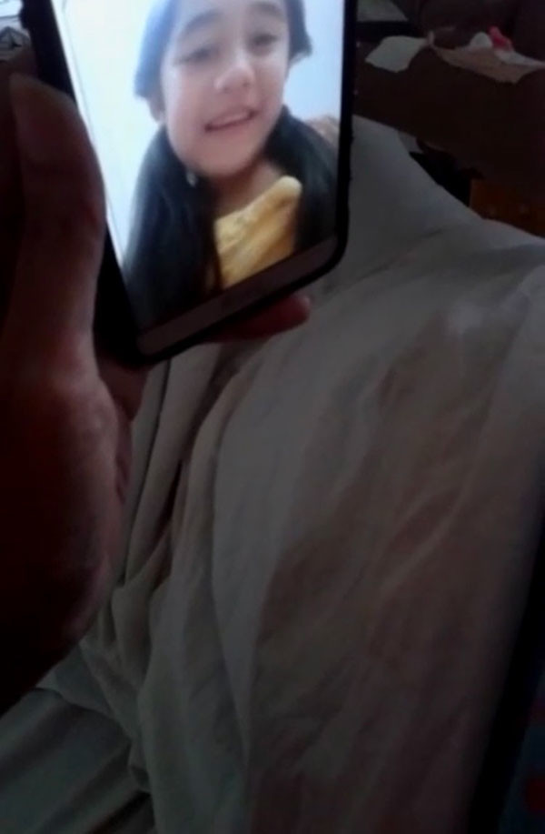Aakriti Sharma Video Chatting With Fan Elizabeth
