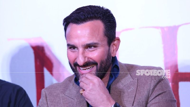Saif Ali Khan Gets Clicked In The City Post Shoot; New Haircut, Kohl-ed Eyes And Blue Lenses Grab Attention