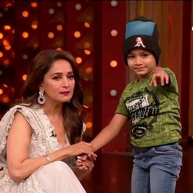 Aalok Shaw Sharing A Light Moment With Madhuri Dixit