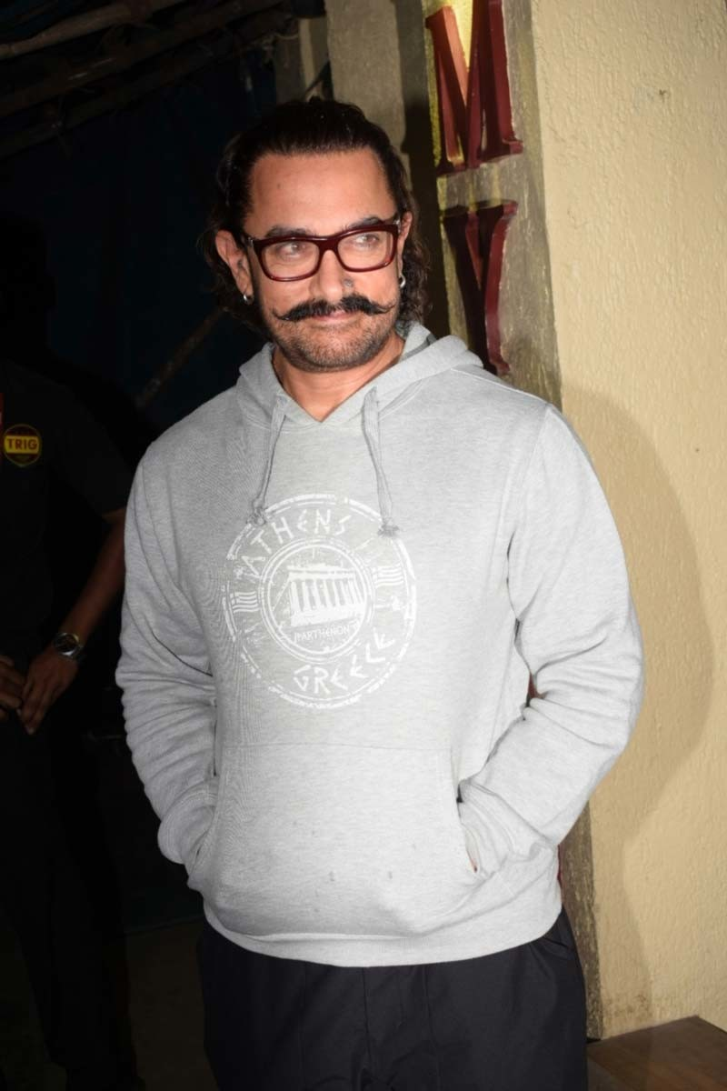Aamir Khan Spotted At A Party