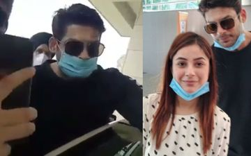 Bigg Boss 13's Sidharth Shukla And Shehnaaz Gill Get MOBBED Outside Their Hotel; Fans Refuse To Let Go Of Sidharth's Hand  - WATCH