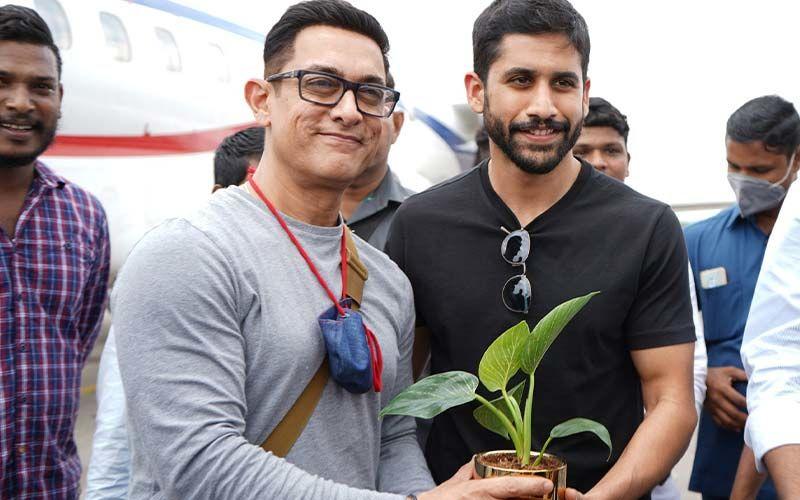 Aamir Khan And Naga Chaitanya Participate In Green India Challenge In Hyderabad