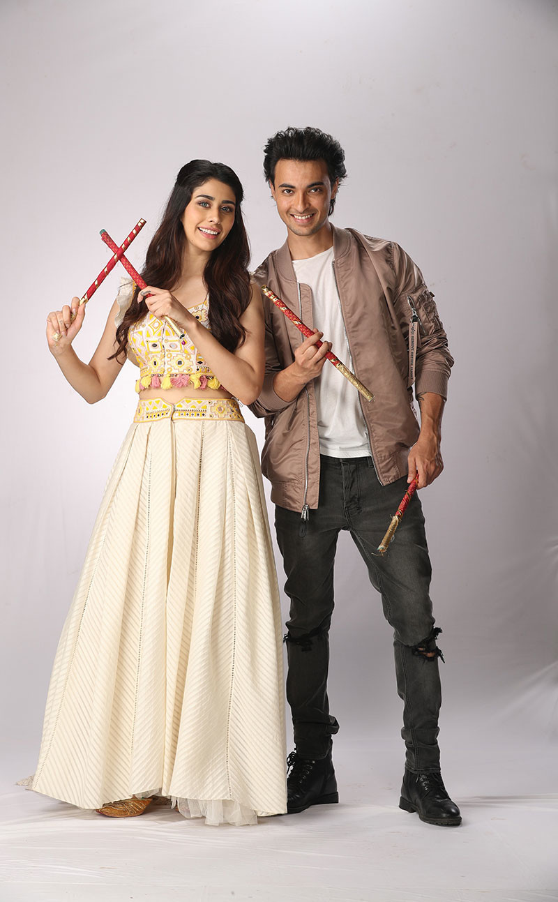 Aayush Sharma And Warina Hussain At StarPlus Dandiya Nights