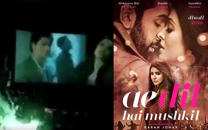 Ae Dil Hai Mushkil Crazy Fans Burst Crackers Inside A Theatre When SRK Enters