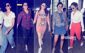 Airport Diaries: Deepika Padukone, Taapsee Pannu, Tamannaah Bhatia, Shruti Haasan & Sophie Choudry's Mile High Club